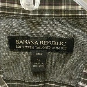 Banana republic XL tall slim fit shirt